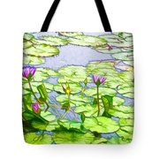 Purple Lotus Flower  Tote Bag