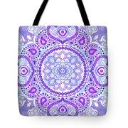 Purple Lotus Mandala Tote Bag