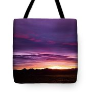 Purple Majesty Sunset Tote Bag