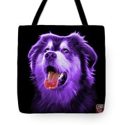 Purple Malamute Dog Art - 6536 - Bb Tote Bag