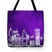Purple Manhattan Tote Bag