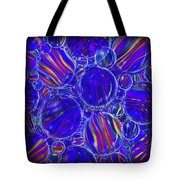 Purple Marbles Shower Curtain Tote Bag