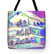 Purple Martin Bird House Tote Bag