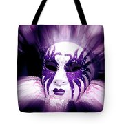 Purple Mask Flash Tote Bag