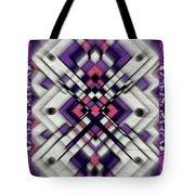Purple Maze Tote Bag