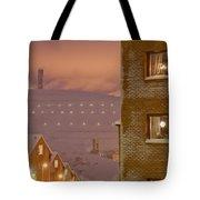 Purple Mine Town Tote Bag