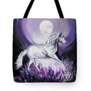 Purple Moon Tote Bag