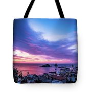 Purple Morning Tote Bag