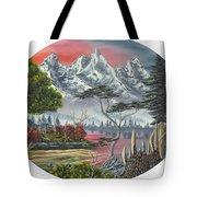 Purple Mountain Lake Tote Bag