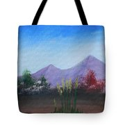 Purple Mountains In The Summer Tote Bag