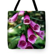 Purple Mouth Flowers Tote Bag
