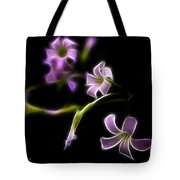 Purple On Black Tote Bag
