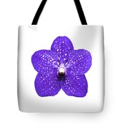 Purple Orchid On White Tote Bag