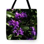 Purple Orchid Plant Tote Bag