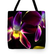 Purple Orchids 2 Backlit Tote Bag