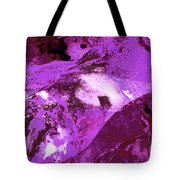 Purple Passion Abstract Tote Bag