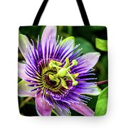 Purple Passion Bloom Tote Bag
