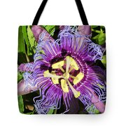 Purple Passion Flower Tote Bag