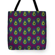 Purple Peackock Print  Tote Bag by Linda Woods