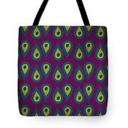 Purple Peackock Print  Tote Bag by Linda Woods