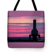 Purple Perfection In Port Tote Bag