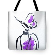 Purple Perfume Bottle Tote Bag