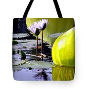 Purple Petals And Glass Tote Bag