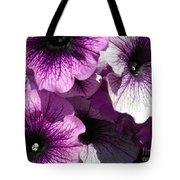 Purple Petunia Paradise Tote Bag