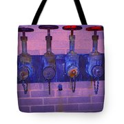 Purple Pipes Tote Bag
