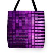 Purple Pixels Tote Bag