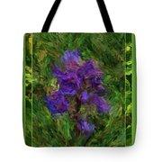 Purple Png Flower Tote Bag