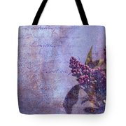 Purple Prose Tote Bag