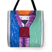 Purple Puppy Tote Bag