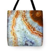 Purple Quartz With Orange Rust Tote Bag
