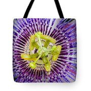 Purple Radial Tote Bag