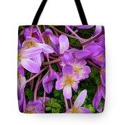 Purple Rain Lilies Tote Bag