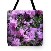 Purple Rhododendrons Tote Bag