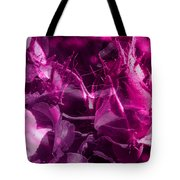 Purple Rose And Pansy Tote Bag
