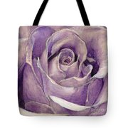 Purple Rose Tote Bag