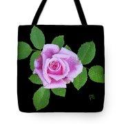 Purple Rosebud2 Cutout Tote Bag