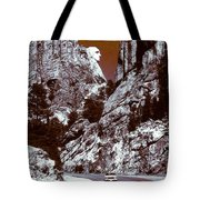 Purple Mount Rushmore Vision Tote Bag