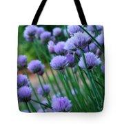 Purple Scallions Tote Bag