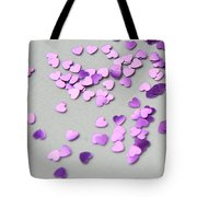 Purple Scattered Hearts I Tote Bag