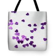 Purple Scattered Hearts II Tote Bag