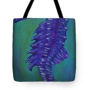 Purple Seahorse Tote Bag