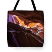 Purple Shadows To Golden Light Tote Bag