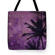 Purple Sky Palm Tote Bag