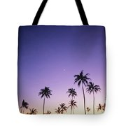 Purple Sky Palms Tote Bag