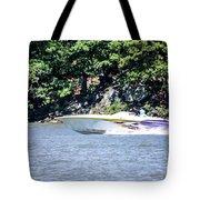 Purple Speed Boat Tote Bag