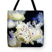 Purple Spotted Jellyfish  Tote Bag
